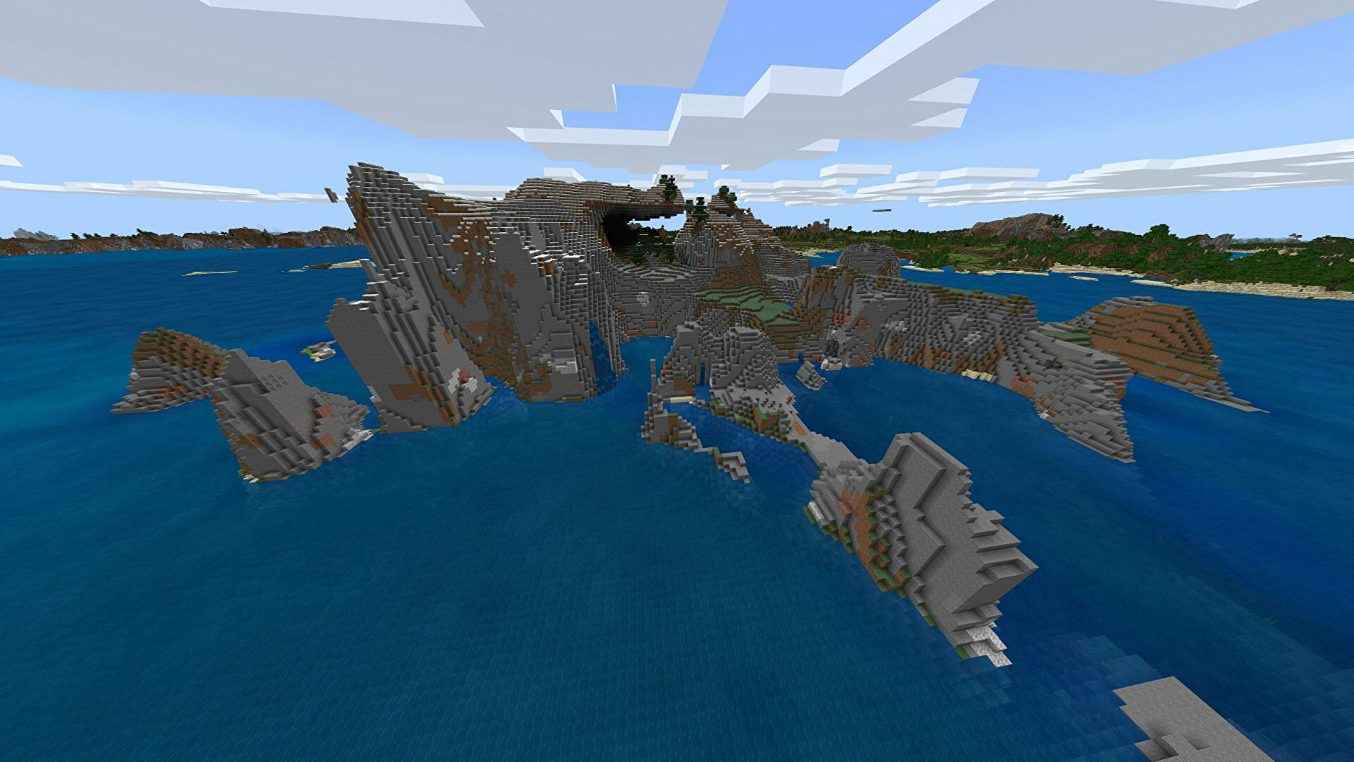 A Minecraft Bedrock screenshot of a new world created with the seed -257277437.