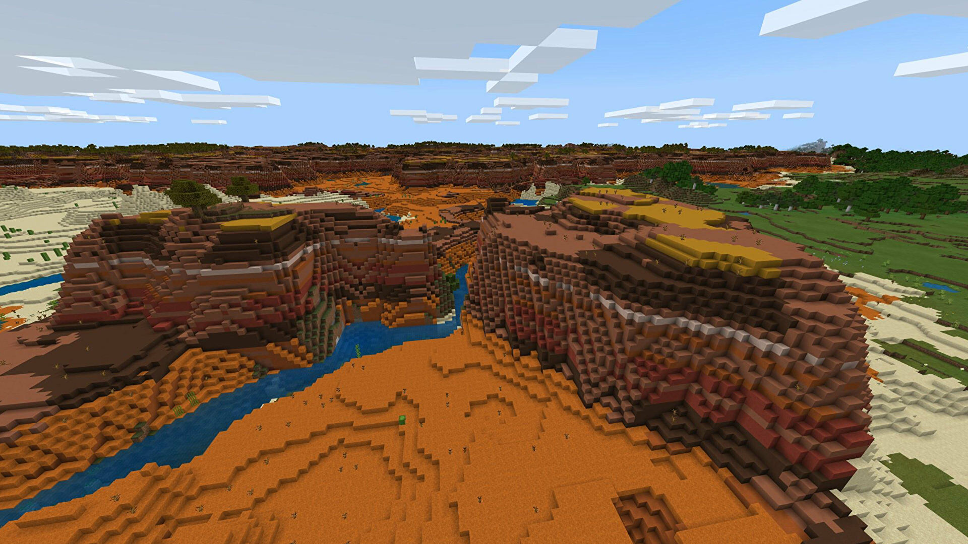 A Minecraft Bedrock screenshot of a new world created with the seed 46623432.