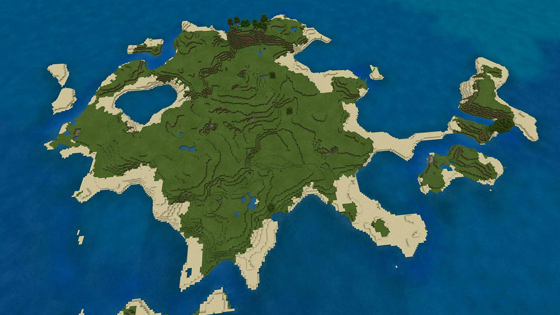 A Minecraft Bedrock screenshot of a new world created with the seed -1567484700.