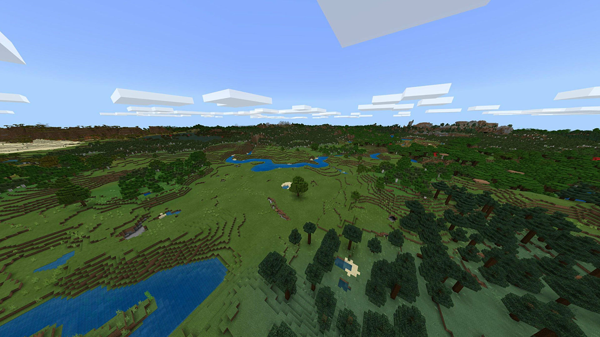 A Minecraft Bedrock screenshot of a new world created with the seed 2141551899.