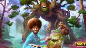 Image for God of painting Bob Ross is coming to Smite