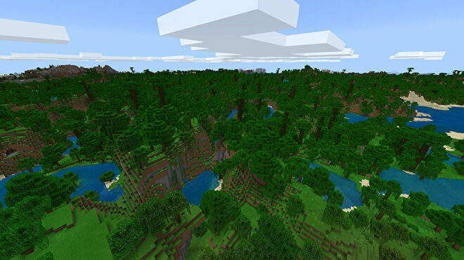 A Minecraft Bedrock screenshot of a new world created with the seed 1653942124.