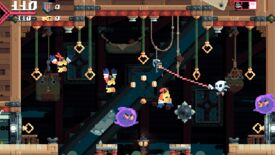Image for Roguelikelike platformer Flinthook swings out