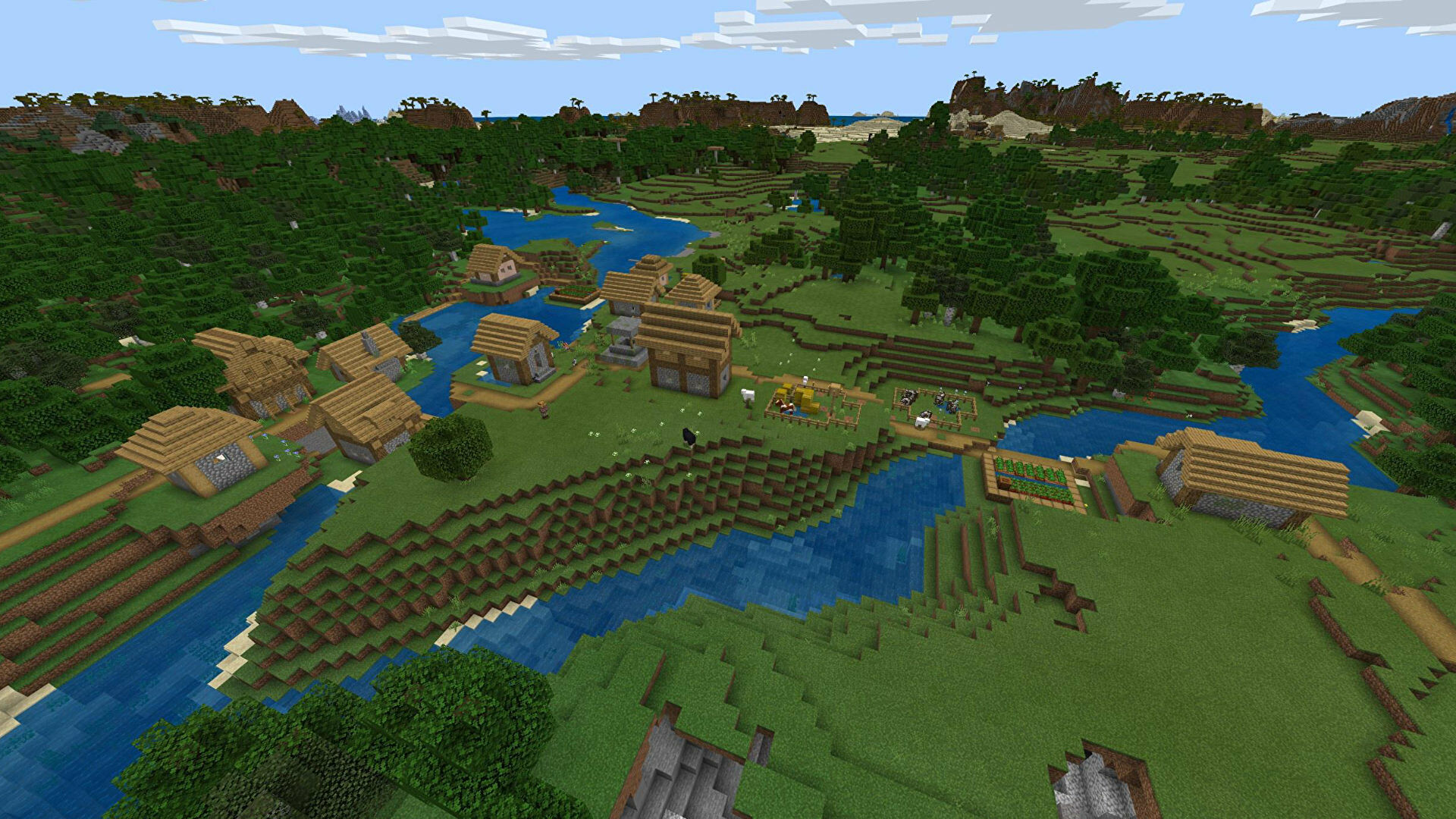 A Minecraft Bedrock screenshot of a new world created with the seed -171182221.