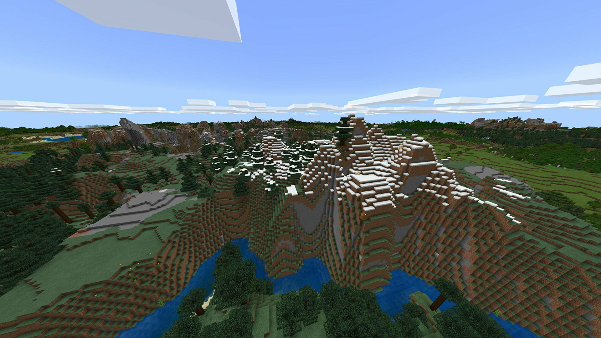 A Minecraft Bedrock screenshot of a new world created with the seed -872552281.