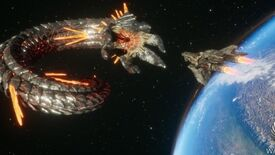 Image for Dogfight a giant space-worm in the Solar Warden demo