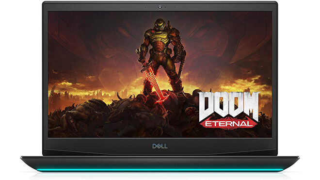 a photo of a gaming laptop, specifically the dell g5