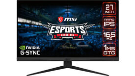 a photo of the msi optix g273qf 1440p 165hz fast ips gaming monitor
