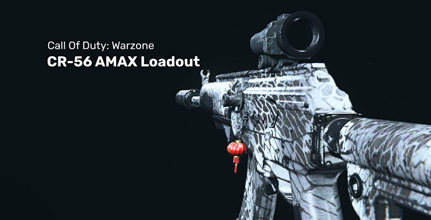A screenshot of the CR-56 AMAX in Warzone.