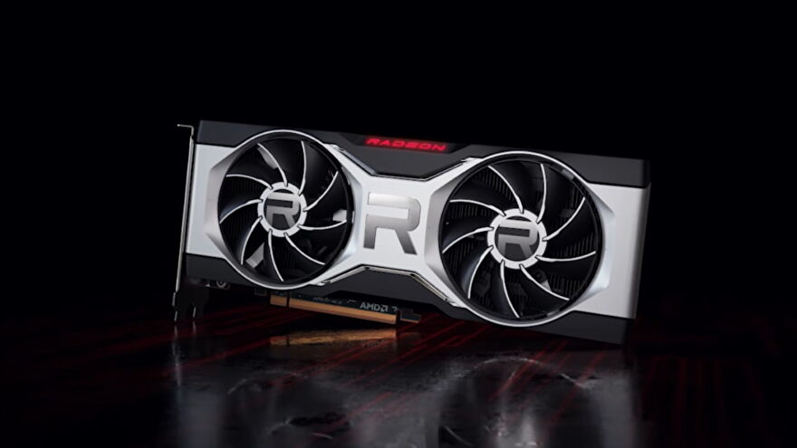 A photo of an AMD Radeon RX 6000 graphics card