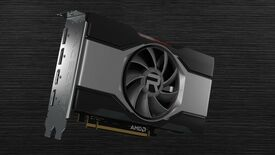 A render of the AMD Radeon RX 6600 reference design.