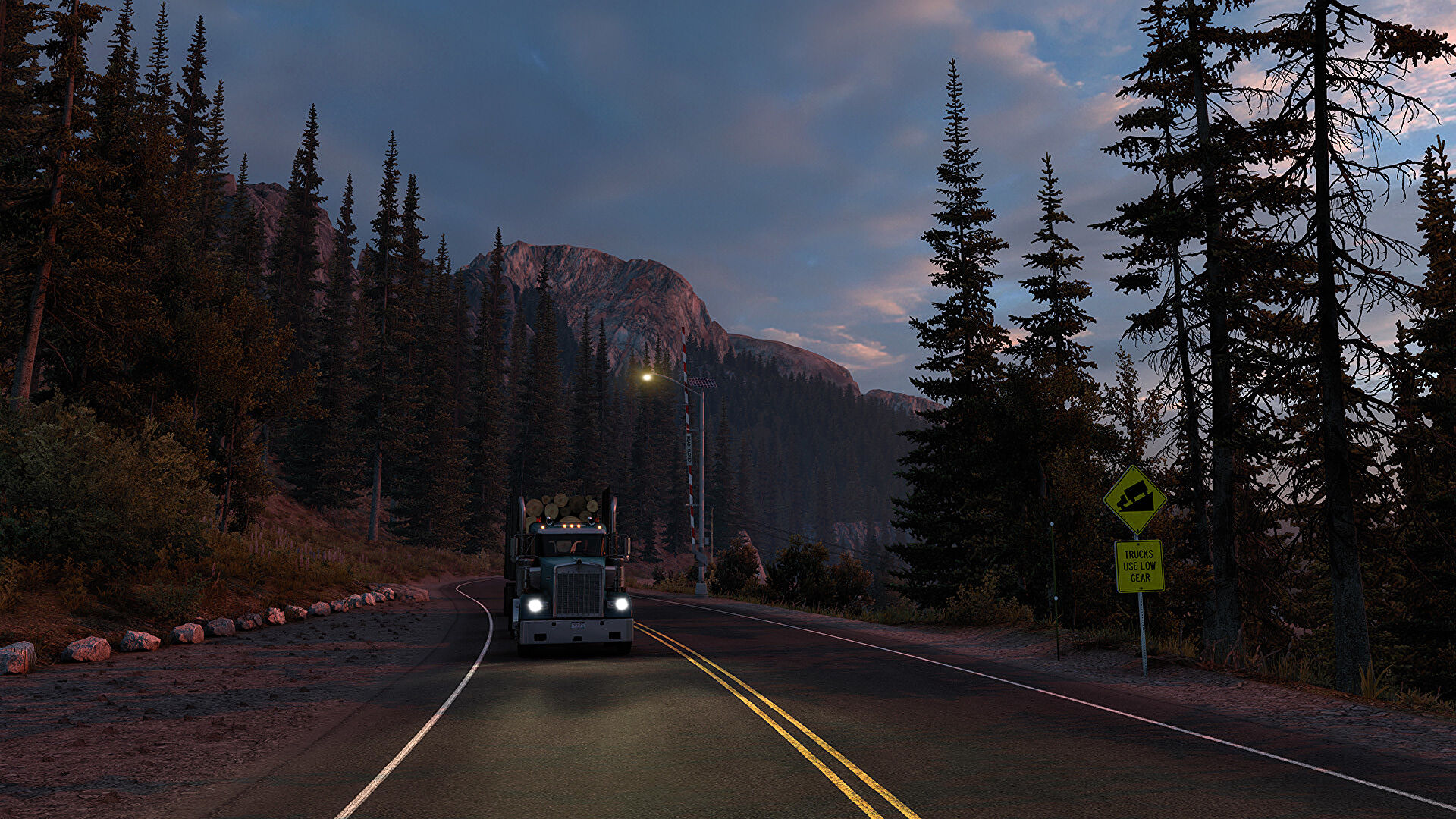 American Truck Simulator's new lighting system looks lovely