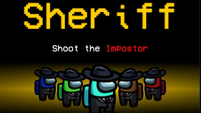The title screen for the Sheriff Among Us mod