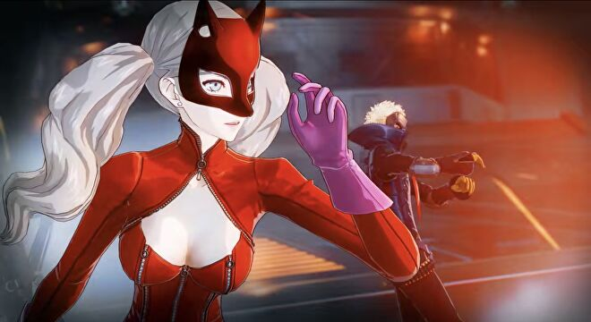 Ann stares down an enemy in Persona 5 Strikers