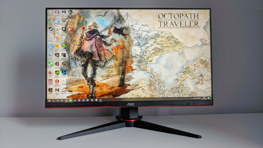A face on photo of the AOC 24G2U gaming monitor