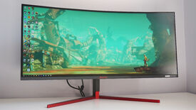 Image for AOC's latest ultrawide monitor is a 200Hz Nvidia G-Sync Ultimate super screen