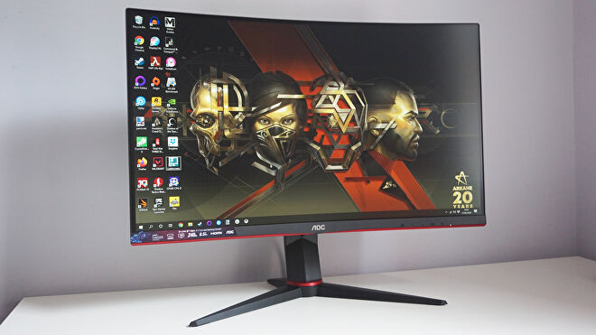 A photo of the AOC C27G2ZU gaming monitor