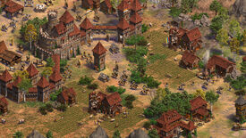 A settlement in Age Of Empires 2 Definitive Edition