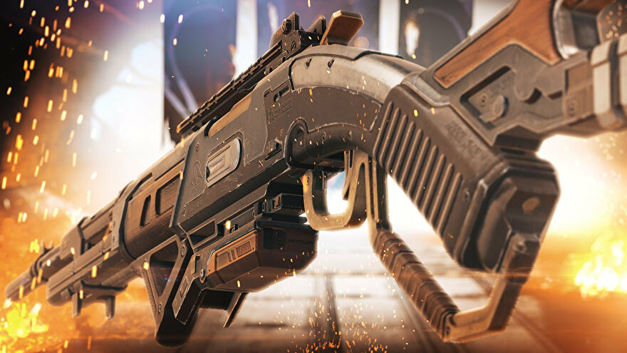 A close-up render of the 30-30 Repeater in Apex Legends.