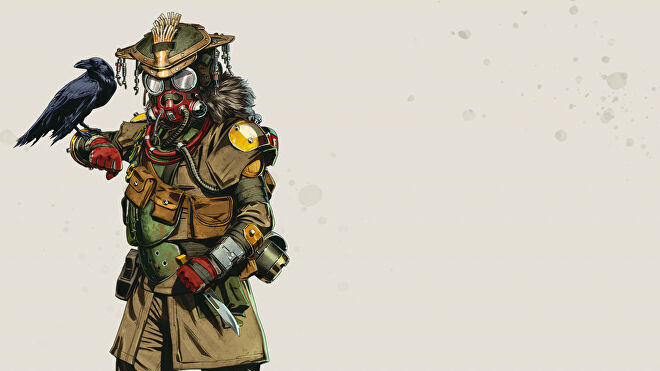 Official art of Bloodhound, one of the Apex Legends characters.