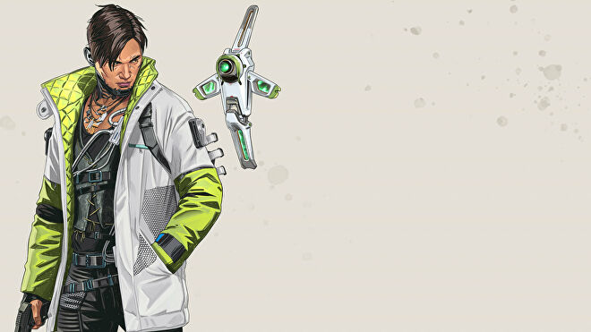 Official art of Crypto, one of the Apex Legends characters.
