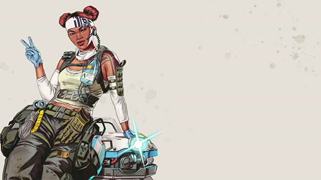 Official art of Lifeline, one of the Apex Legends characters.