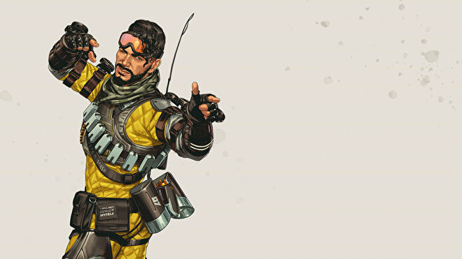 Official art of Mirage, one of the Apex Legends characters.