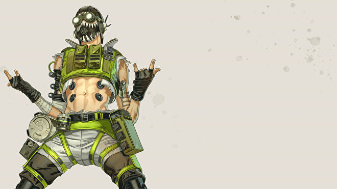 Official art of Octane, one of the Apex Legends characters.