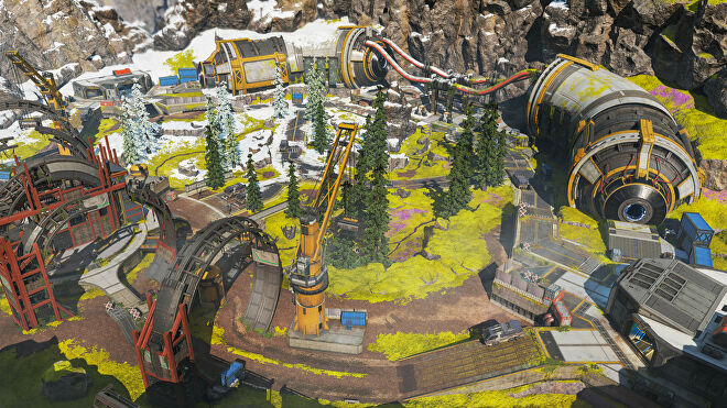 A promotional Apex Legends screenshot of Phaserunner, one of the maps created for the Apex Arena mode.