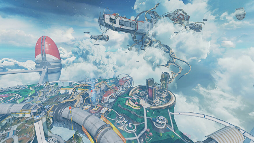 A screenshot of part of the Apex Legends map Olympus that was changed with the Season 9 update.