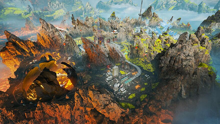 A wide view of Apex's World's Edge map.