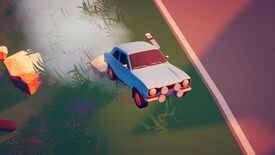 Image for Art Of Rally's free demo takes Absolute Drift's minimal powerslides to the woods