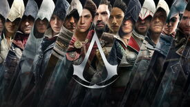 Artwork depicting all the main leads from the Assassin's Creed series