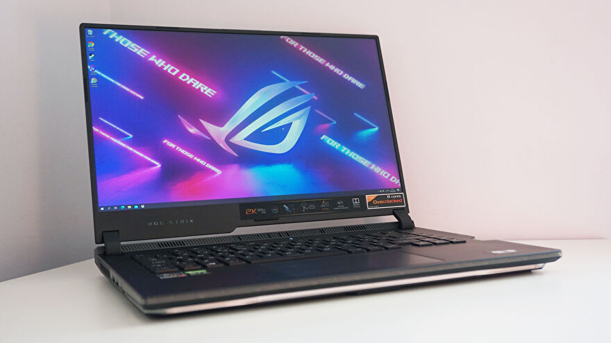 A photo of the Asus ROG Strix Scar 15 G533Q gaming laptop