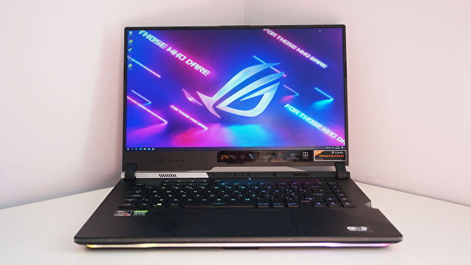A face on photo of the Asus ROG Strix Scar 15 gaming laptop