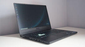 A photo of the Asus TUF Dash 15 gaming laptop