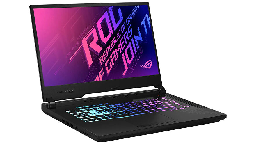 a photo of an assus rog strix g15 15-in gaming laptop with rtx 2060 and core i7