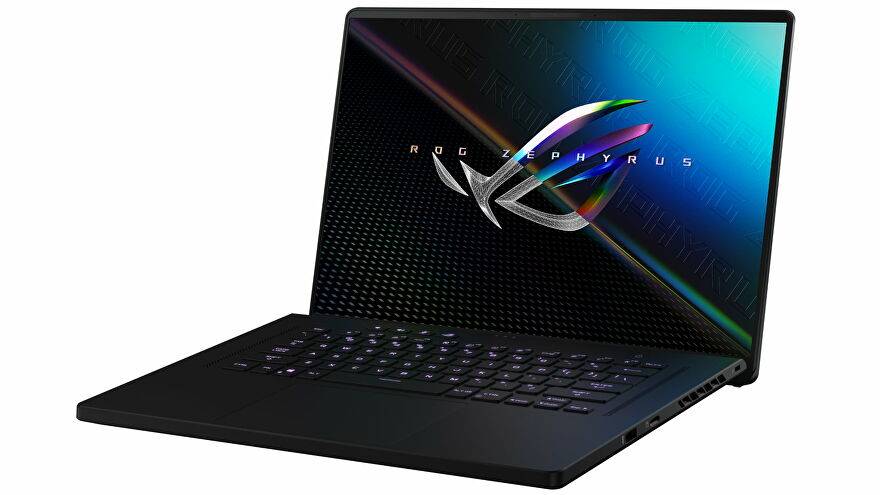A photo of the Asus ROG Zephyrus M16 gaming laptop