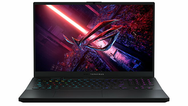 A photo of the Asus ROG Zephyrus S17 gaming laptop