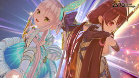 Magical-looking girls from Atelier Sophie 2: The Alchemist of the Mysterious Dream. They look like they just did a cool combat move.