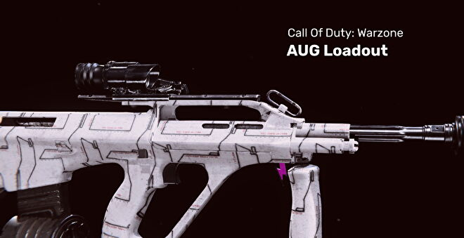 An AUG from Call of Duty Warzone on a blank background.