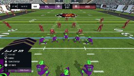 Two teams of American football players face off in Axis Football 2021
