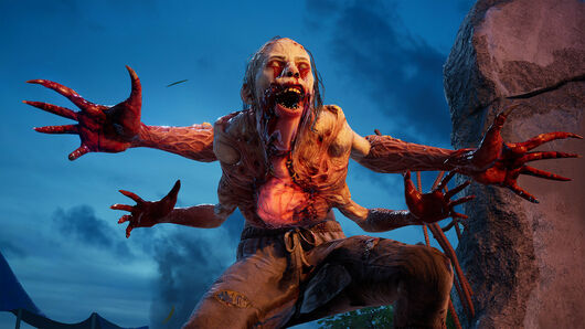 A horrible four-armed zombie in a Back 4 Blood screenshot.