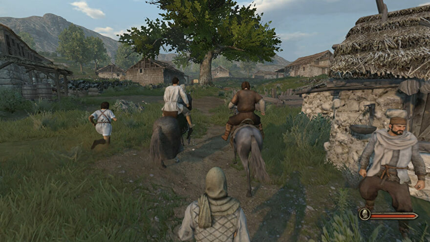 Players riding out together in a Mount & Blade 2: Bannerlord Online mod screenshot.
