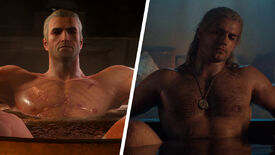 Image for Exclusive: The Witcher TV show's bathtub Geralt vs. The Witcher 3's bathtub Geralt. Which bath is best?
