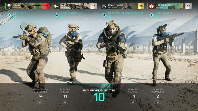 A screenshot from Battlefield 2042 which shows the in-game lobby from Hazard Zone.