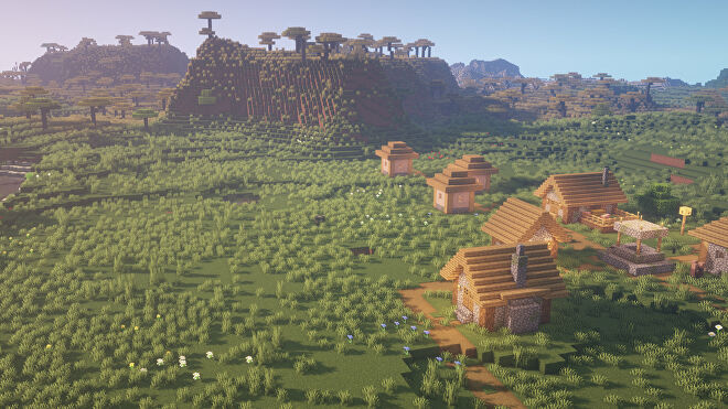 A Minecraft screenshot of a new world created with the seed 12542.