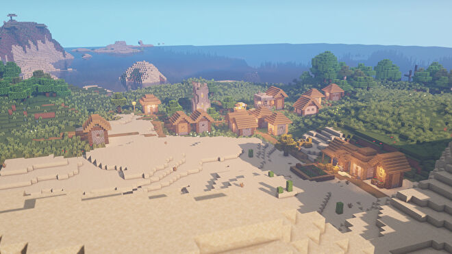 A Minecraft screenshot of a new world created with the seed 3227028068011494221.