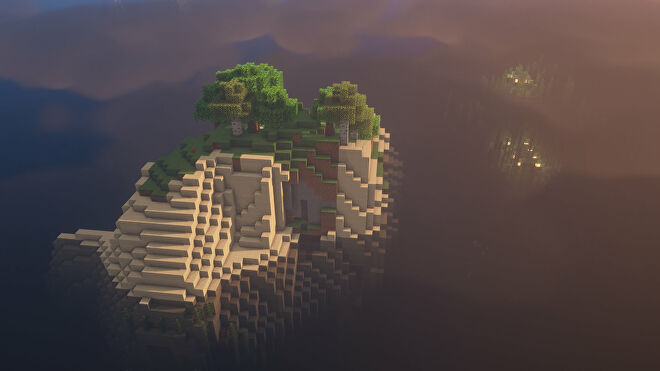 A Minecraft screenshot of a new world created with the seed -3821186818805133221.