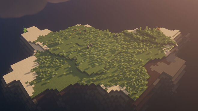 A Minecraft screenshot of a new world created with the seed -4199716164182889661.